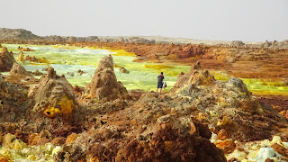 They walk through the Sulfur as its nothing