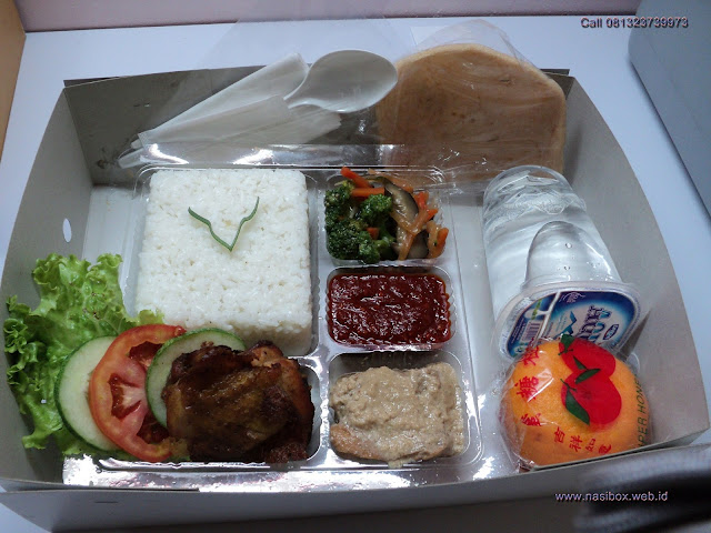 Nasi box lengkap di ciwidey