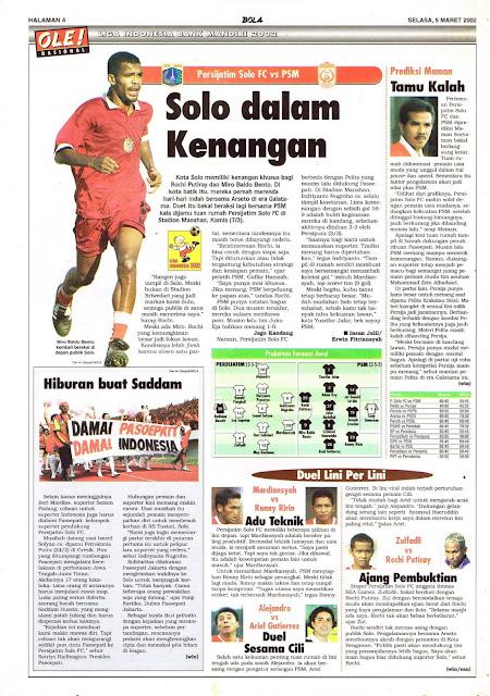 LIGA INDONESIA BANK MANDIRI 2002: SOLO DALAM KENANGAN