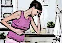 Souffrent des douleurs de brûlures d'estomac