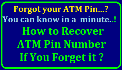 How to Recover ATM Pin Number if you forget it ? How to Recover ATM Card Pin | What do I do if I forgot my ATM/Santander Debit Card PIN? | Generate ATM/Debit Card PIN Online | SBI ATM (Debit Card) Pin Generation through SMS | What should I do if I forgot my ATM PIN number? | How do you find out your PIN number for your debit card? | How can get ATM PIN? | How can I change my ATM card PIN?/2018/01/what-do-i-do-if-i-forgot-my-atm-pin-number-how-to-generate-atm-pin-number.html