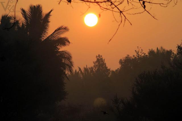 Sunrise at Bengaluru-Mysuru Highway