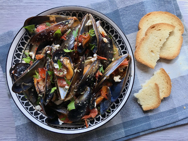 mejillones estilo griego receta
