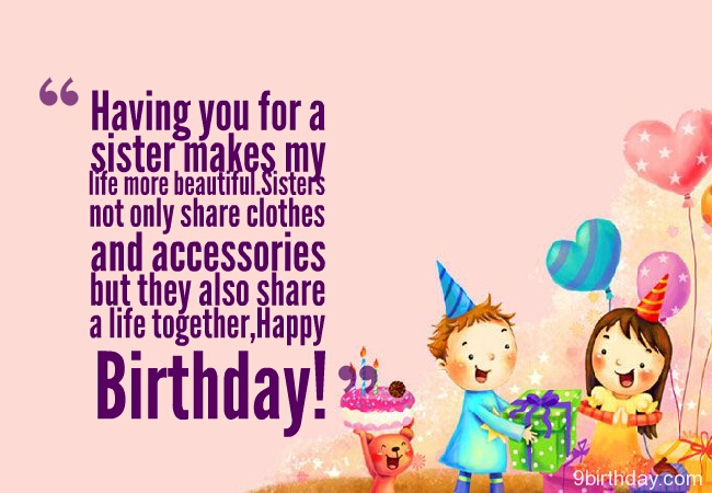having you for a sister happy birthday