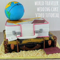 World Travel Wedding Cake Tutorial