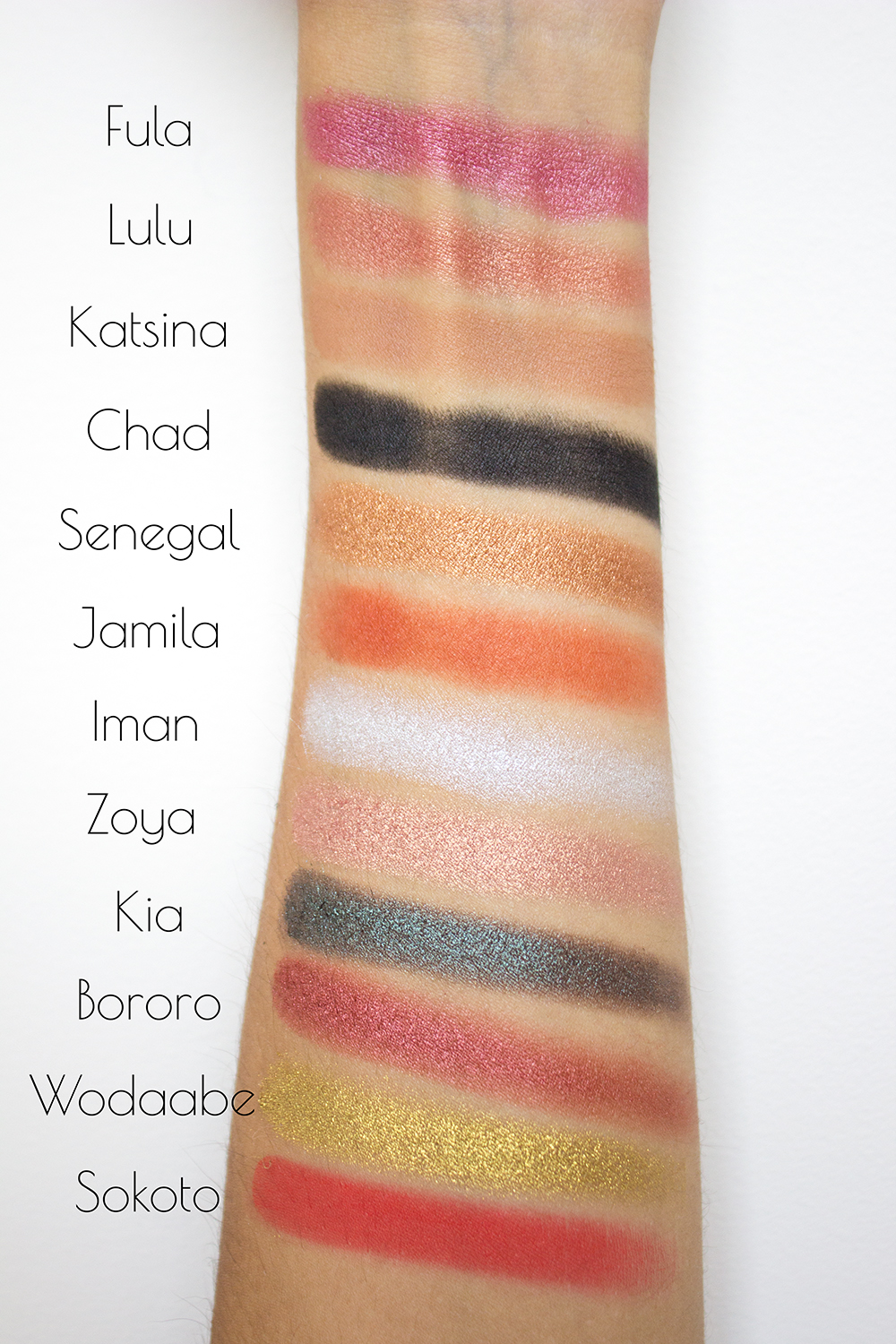 Juvia's Place The Saharan Eyeshadow Palette Swatches