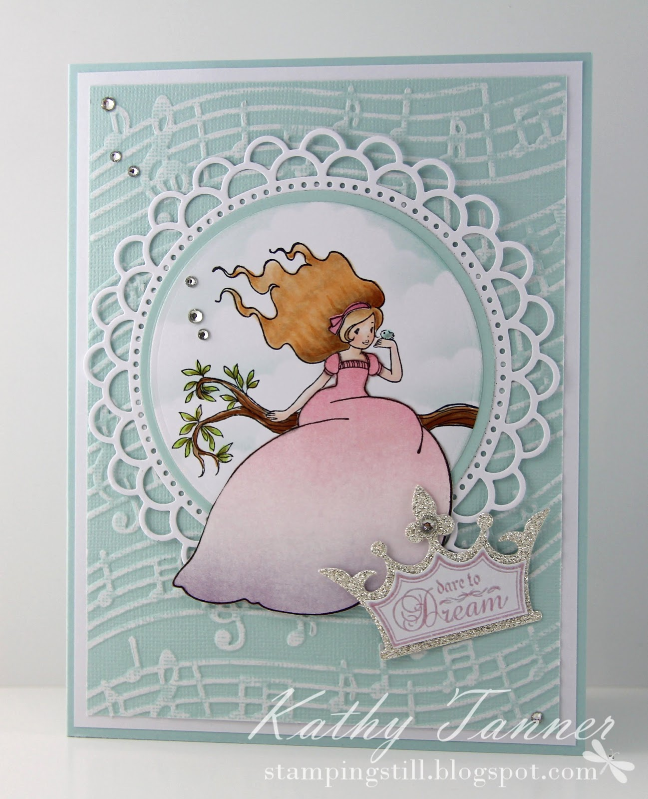 the Little Bird, Whimsy Stamps, Fairy Tale Dreams, Crown Die