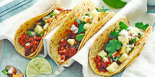 Chipotle Chicken Tacos With Pineapple Salsa - World Food & Cuisine         |          World Food Cuisine