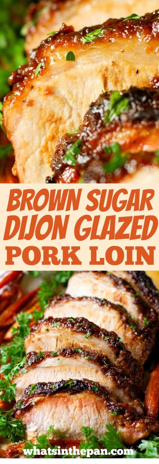 Brown Sugar Dijon Glazed Pork Loin With Carrots, Apples And Sweet Potatoes
