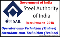 sail-Operator-cum-Technician-Attendant-cum-Technician-recruitment-2018