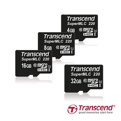 Transcend super mlc microsd cards