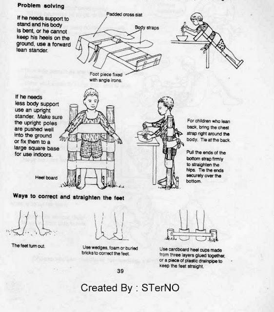 meja dan kursi yang didesain menggunakan strap untuk   pengikat posisi pasien duduk