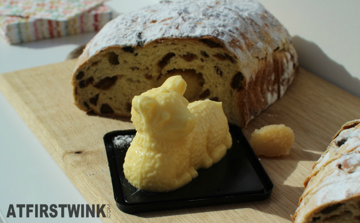 HEMA Easter raisin bread and detailed lamb butter