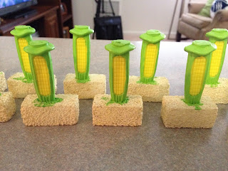 3D corn printed on 3D printed by Roosterfin Games from ITD 3D drawings