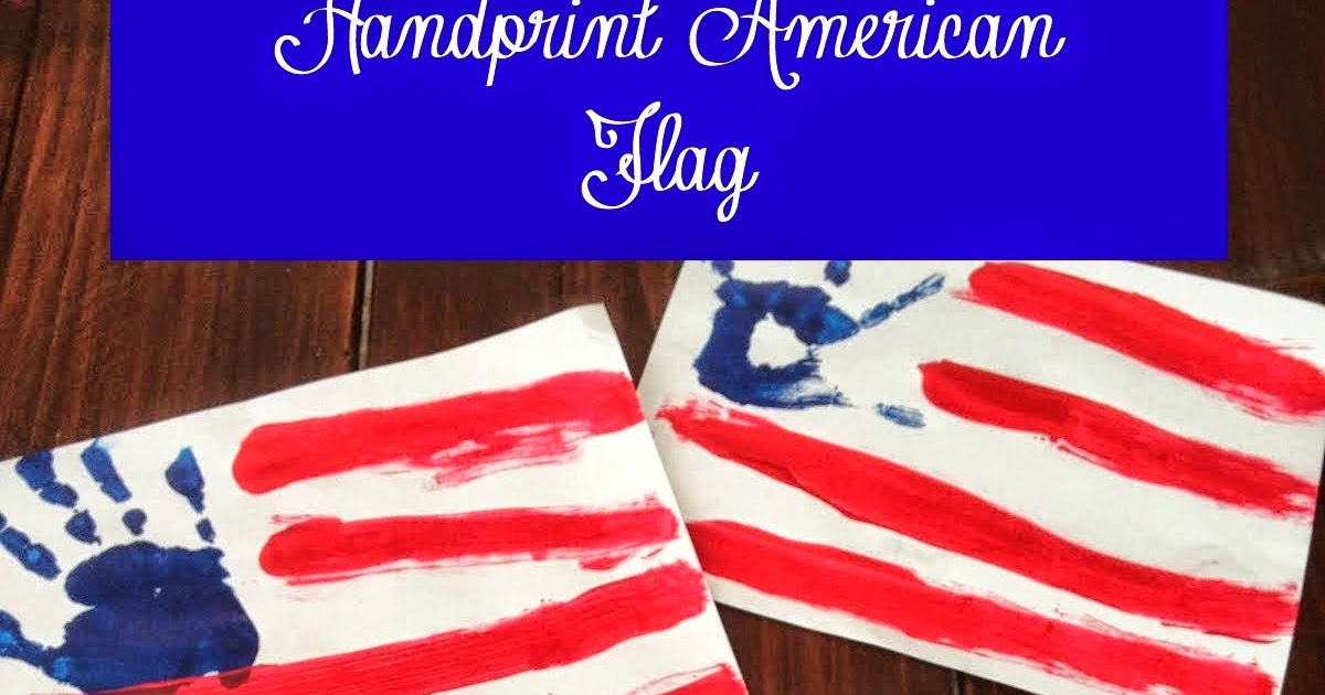 Mothering With Creativity Handprint American Flag