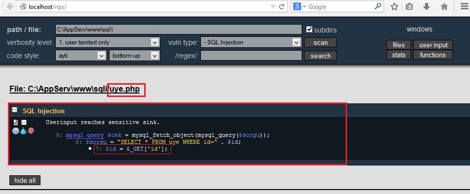 SQL Injection - PHP Scriptlerde SQLi Tespiti ve Exploit Etme 7
