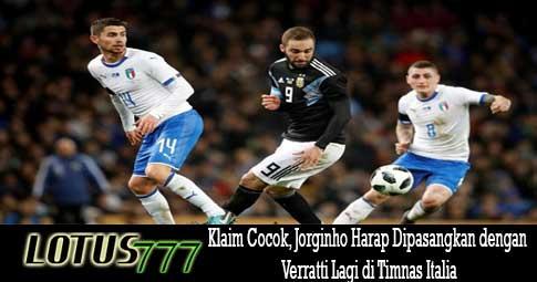 Klaim Cocok, Jorginho Harap Dipasangkan dengan Verratti Lagi di Timnas Italia