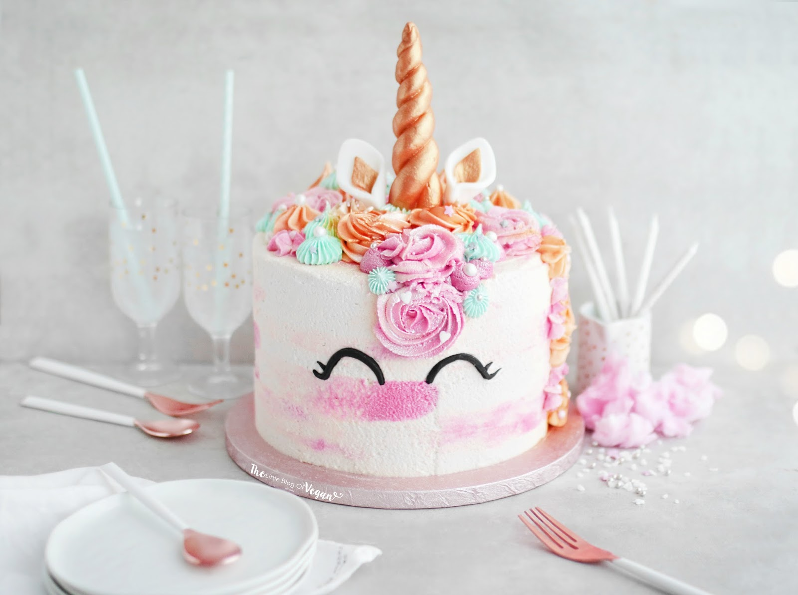 Fabulous Vegan Unicorn Cake Recipe The Little Blog Of Vegan Funny Birthday Cards Online Inifodamsfinfo