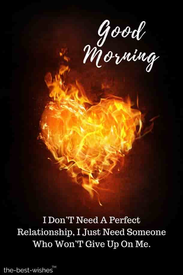good morning wishes with burning heart