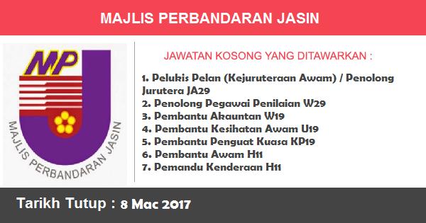 Jawatan Kosong di Majlis Perbandaran Jasin