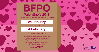 British Forces Post Office   Valentineu0027s 2018   Latest Recommended Posting  Dates
