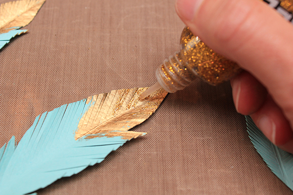 Gold Tipped Feathers Tutorial 6