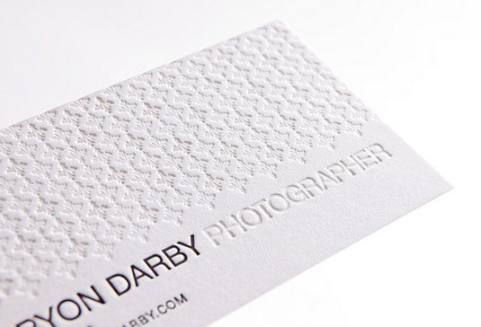 Bryon Darby business card design