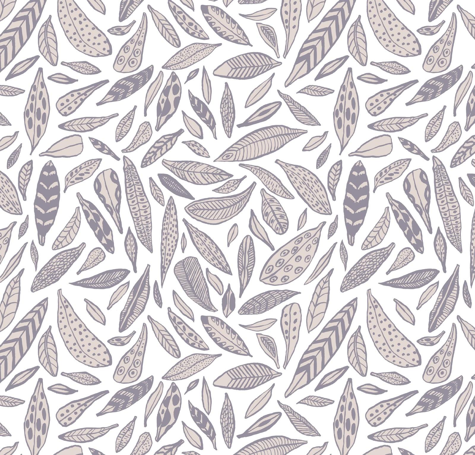 Kristen Acampora Illustration: Feather Pattern.