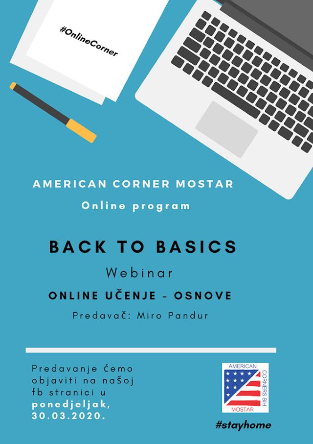 BACK TO BASICS - ONLINE UČENJE -OSNOVE - NAJAVA WEBINARA