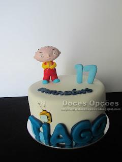 Bolo de aniversário Family Guy
