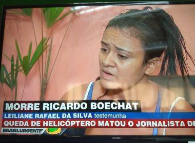 Testemunha diz ter visto Boechat pedir socorro com a mão antes de explosão do helicóptero