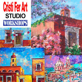 Colonial Mexico Expressive Acrylic Painting