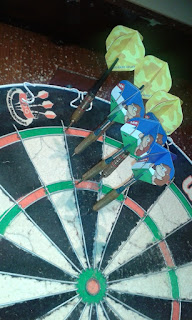 Darts at the Queens Arms pub on the Cheadle / Stockport border