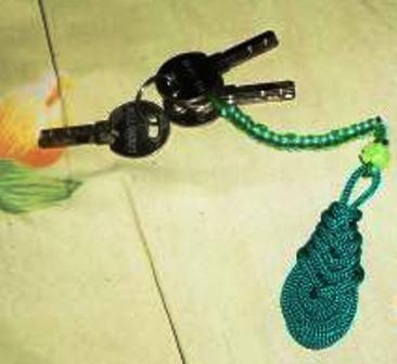 Cara Membuat Gantungan Kunci Tali Kur
