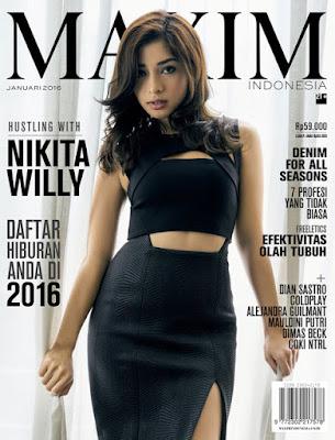 Nikita Willy Sexy di Majalah MAXIM Januari 2016
