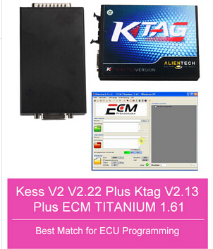 2.13V Ktag Master V6.070 Plus V2.22 Kess V2 Unlimited Token V4.036 with Free ECM TITANIUM V1.61 Software