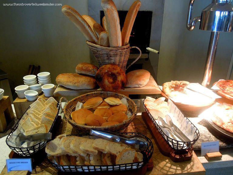 Bread station during breakfast buffet at The Beach House at Costa Pacifica