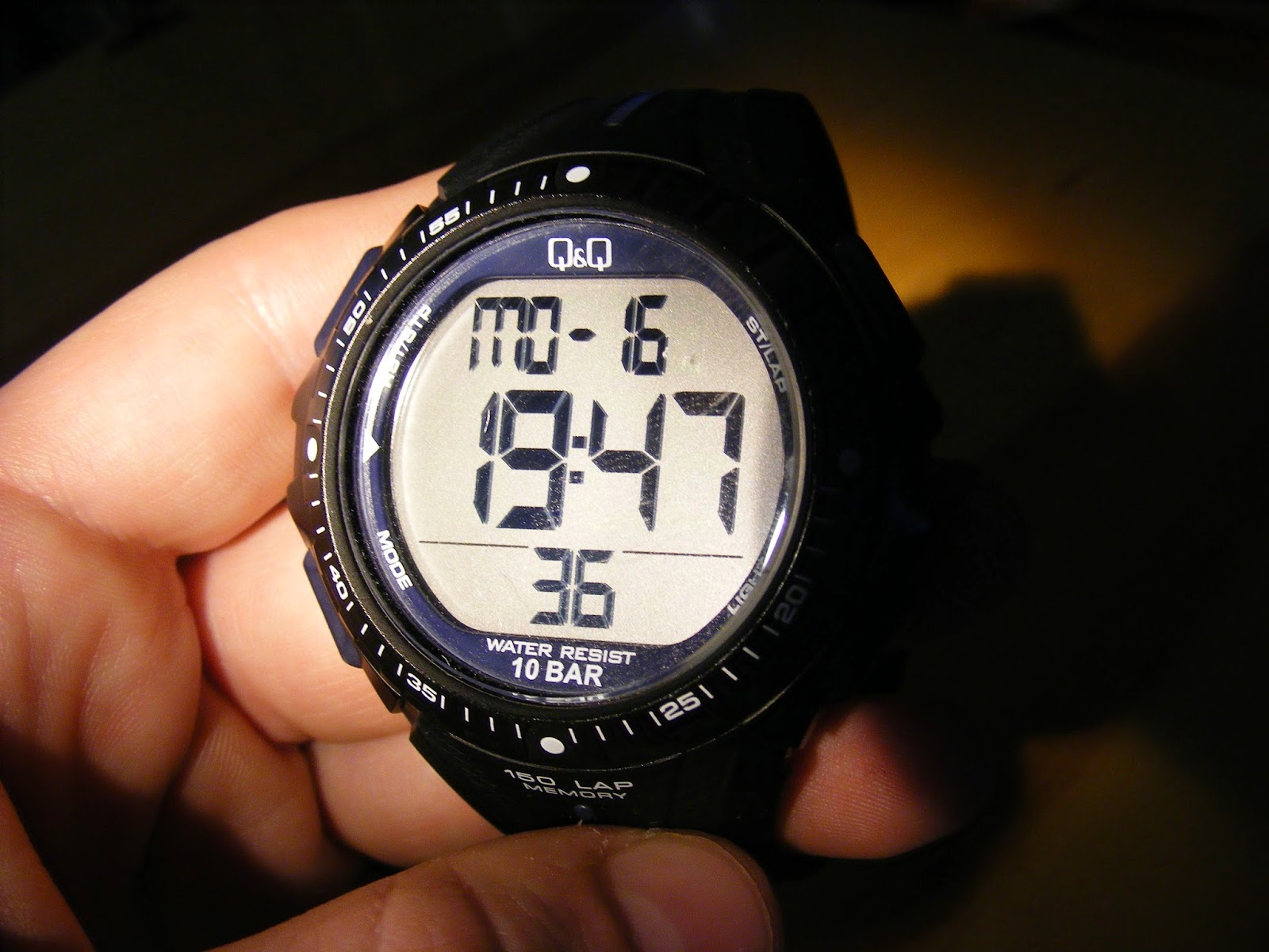 qq running watch sports laps with big font