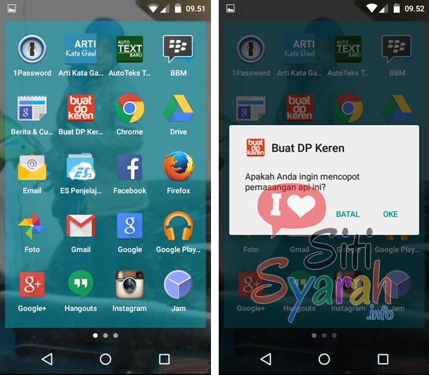 hapus aplikasi bawaan android