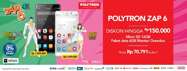 Harga Polytron Zap 6 Posh & Posh Note dan Spesifikasi 2016