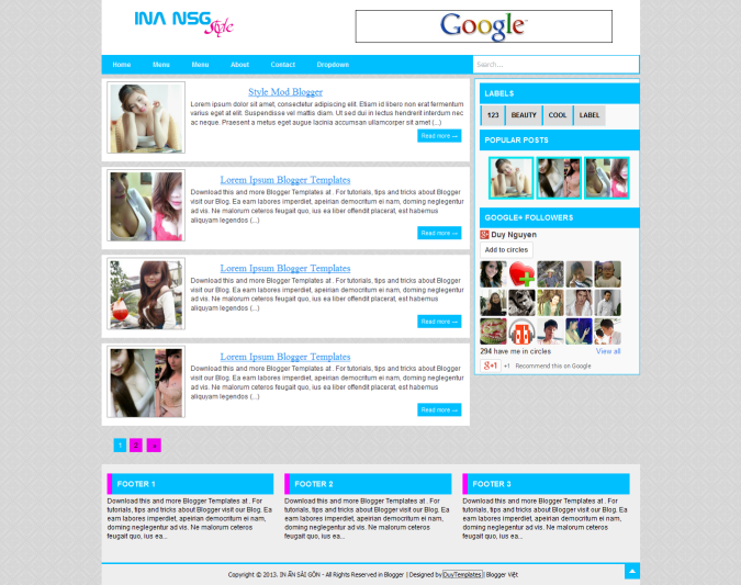 INA NSG Blogger Template