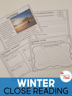 Winter Close reading plus a few FREEBIES- blog post highlighting hands-on activities for kids