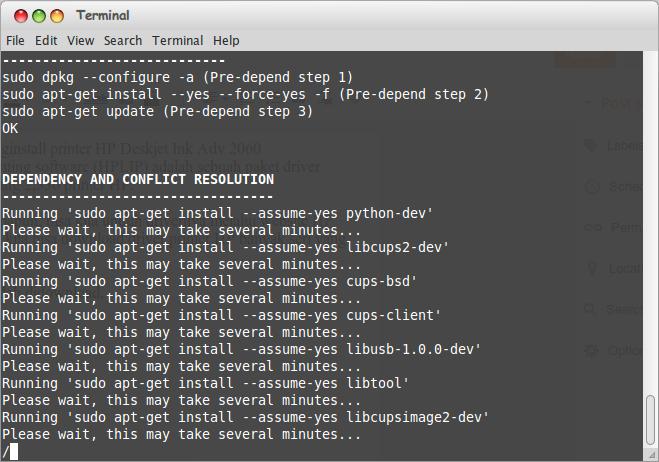 Cara Install Printer HP 2060 di Linux