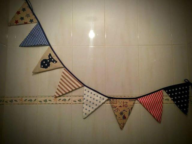 Guirnalda de Banderines de tela Handmade