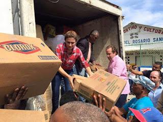 Carolina Mejía llama a la unidad de los políticos, para ir en ayuda de los damnificados por intensas lluvias en el Cibao