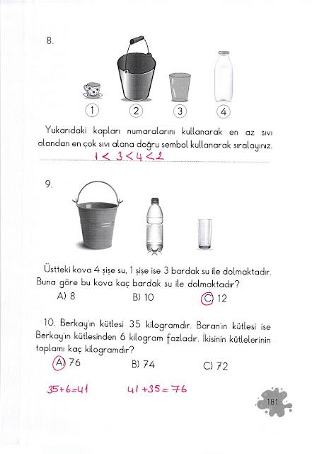2. Sınıf Açılım Yayınları Matematik Ders Kitabı 181. Sayfa Cevapları