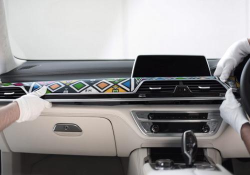 Tinuku.com South African artist Nikwambi Mahlangu decorate Ndebele style BMW 7 Series