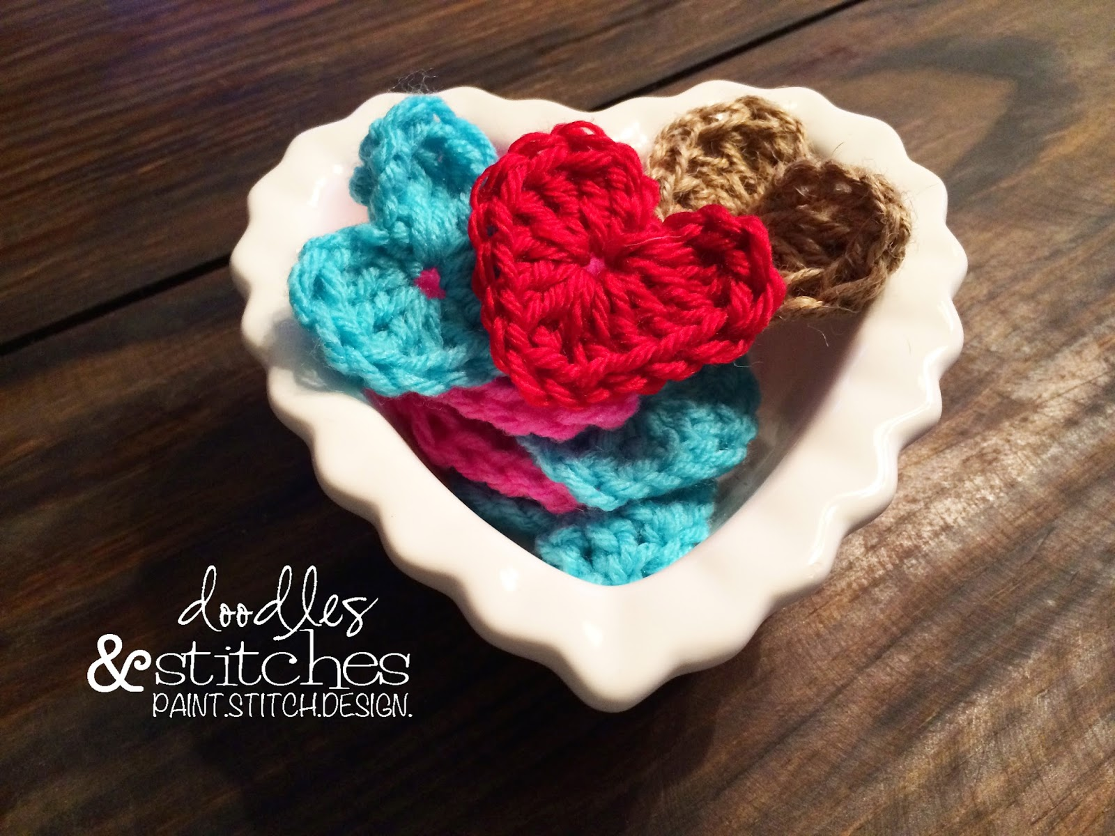 How To Crochet A Heart - Doodles & Stitches
