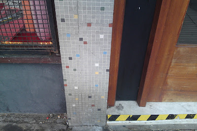 Styling And Salvage Modernist Archaeology Mosaic Tiles On Shop Fronts In Swindon C