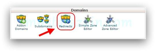 Domain Redirect di cPanel